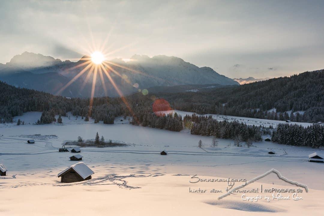 Sonnenaufgang hinter dem Karwendel