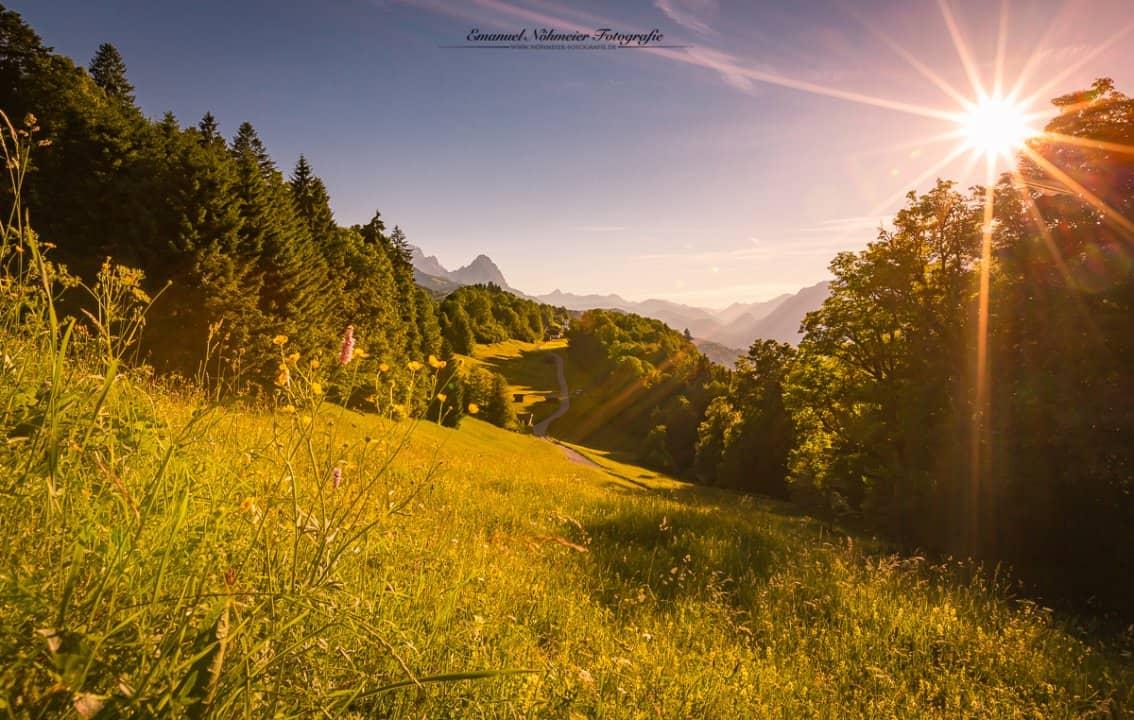 Wamberg, Deutschlands höchstes Kirchdorf