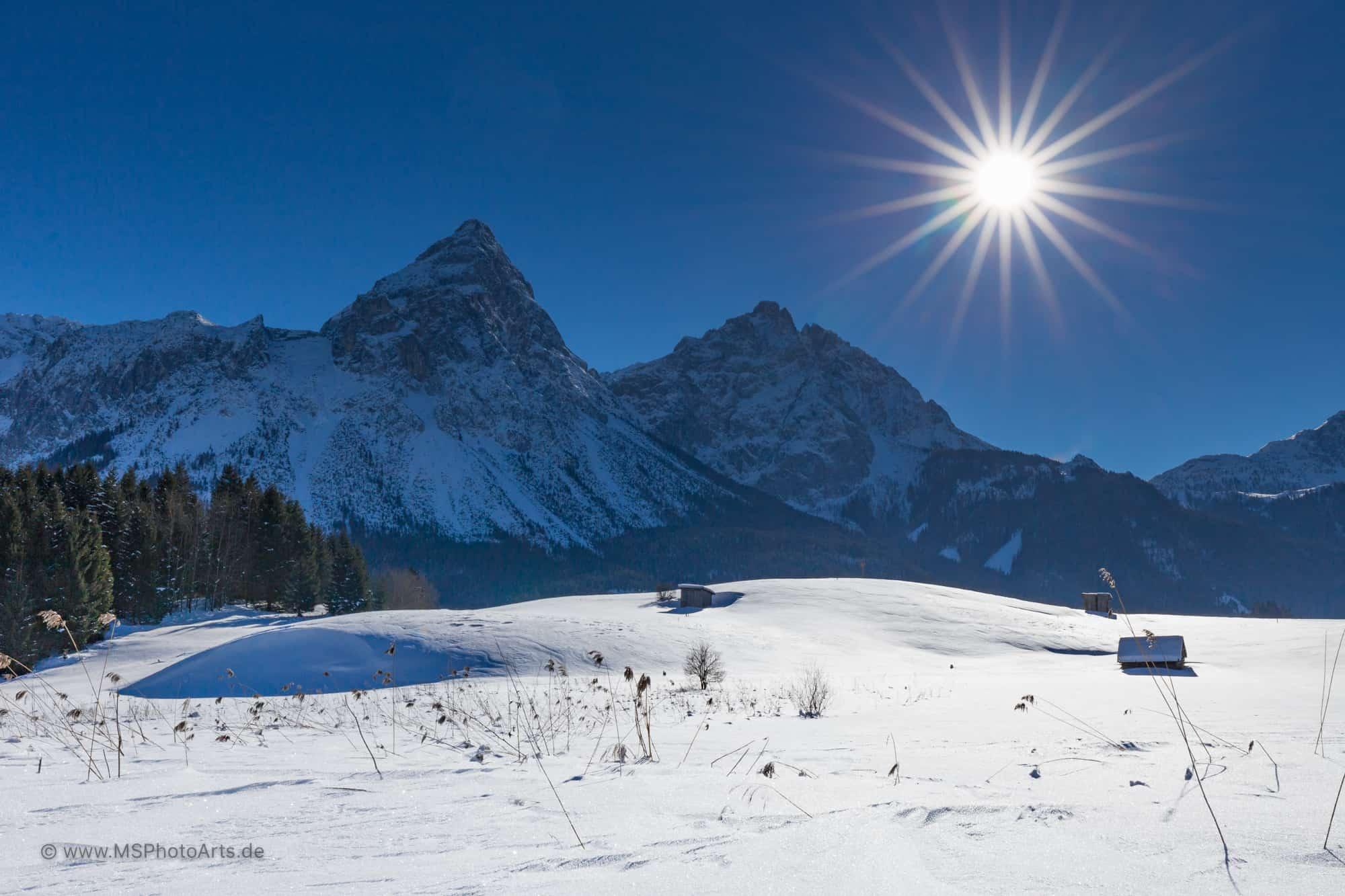 Winterlandschaft unter der Sonnenspitze
